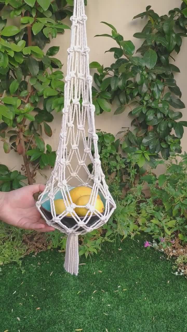 Machen selber obstkorb hängend Blumentopf hängend